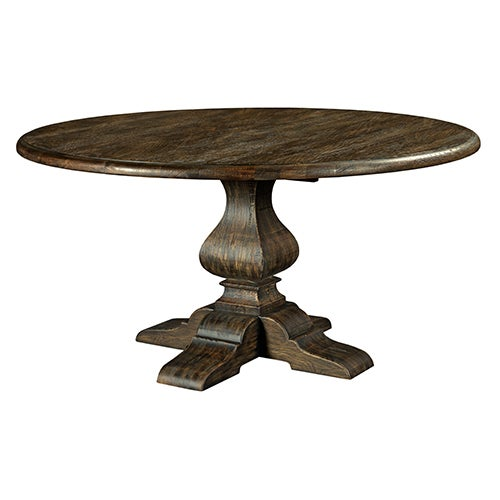 60in round dining table w metal base black forest for Table cuisine 90 x 60