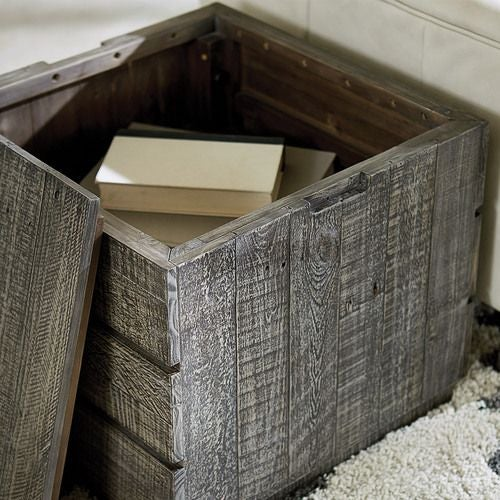 Reclamation Place-Shiplap Storage Cube