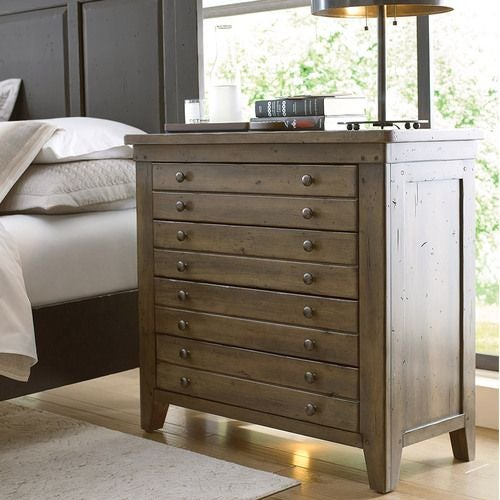 Map Drawer Bedside Chest