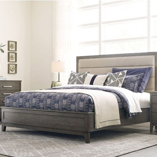 Cascade Ross Cal King Upholstered Panel Bed - Complete