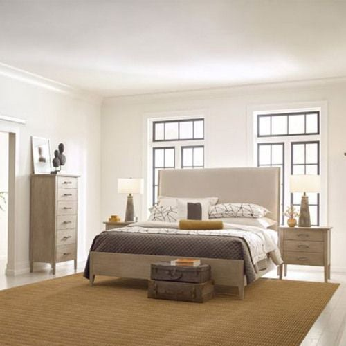 Symmetry Incline King Fabric Bed W/Medium Footboard