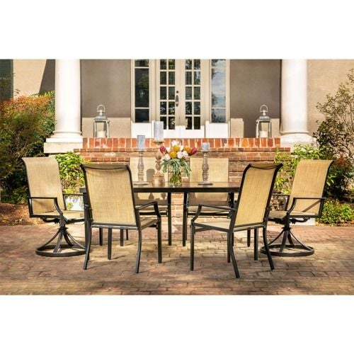 Addyson 7pc Sling Dining (rect table, 4 stationary, 2 swivel)