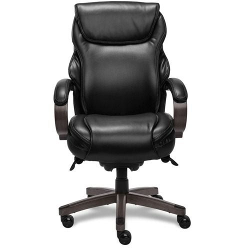 La-Z-Boy Hyland Executive Office Chair with AIR Technology in Jet Black Bonded Leather