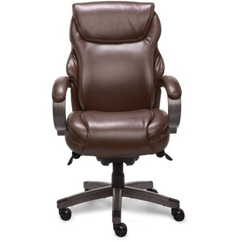 La-Z-boy Hyland Executive Office Chair with AIR Technology in Chestnut Marron Bonded Leather