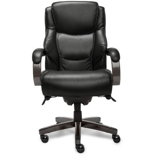 La-Z-boy Delano Executive Office Chair in Jet Negro Bonded Leather