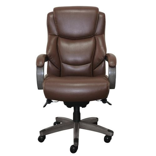 La-Z-Boy Delano Executive Office Chair in Chestnut Brown Bonded Leather