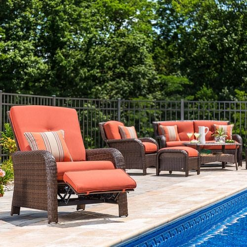 Sawyer Recliner - Grenadine Orange