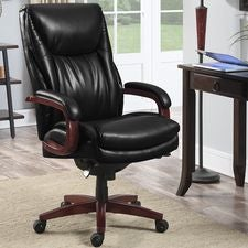 Edmonton Big & Tall Executive Office Chair, Noir