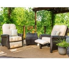 Breckenridge 3 Piece Patio Furniture Set, Natural Tan