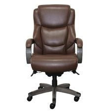 Delano Big & Tall Executive Office Chair, Chestnut Marron