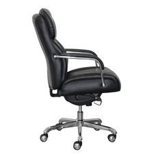 Sutherland Quilted Leather Office Chair, Jet Noir