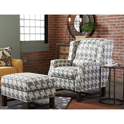 Cosmopolitan Premier Stationary Occasional Chair w/ Platinum Nail Head Trim