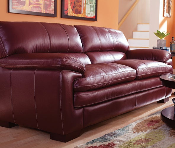 Leather lazy boy sofa la z boy william 100 leather sofa Leather lazy boy sofa