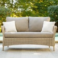 Laurel Loveseat w/ Natural Tan Cushion
