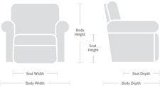 Dimensions Diagram  sc 1 st  La-Z-Boy & Maverick Reclina-Rocker® Recliner islam-shia.org