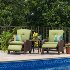 Sawyer Patio Recliner Set, Cilantro Verde