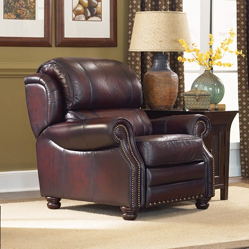 Jamison High Leg Recliner w/ Brass Nail Head Trim