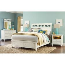 Queen Sleigh Bed W/Storage Complete
