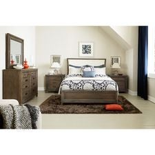 Park Studio Queen Upholstered Sleigh Bed Complete