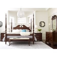 Hadleigh Rice Carved King Bed - Complete