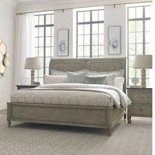 Savona Cal King Anna Sleigh Bed 6/0 Complete