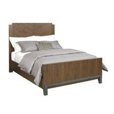 AD Modern Synergy Chevron Walnut King Bed Package