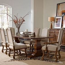 Artisans Shoppe 94IN Rectangular Dining Table W/ Wood Base - Tobacco