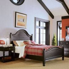 Camden Dark Panel Queen Bed - Complete