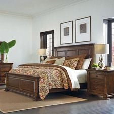 PORTOLONE MONTERI KING PANEL BED - COMPLETE