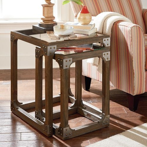 Hidden Treasures Rustic Nesting Tables