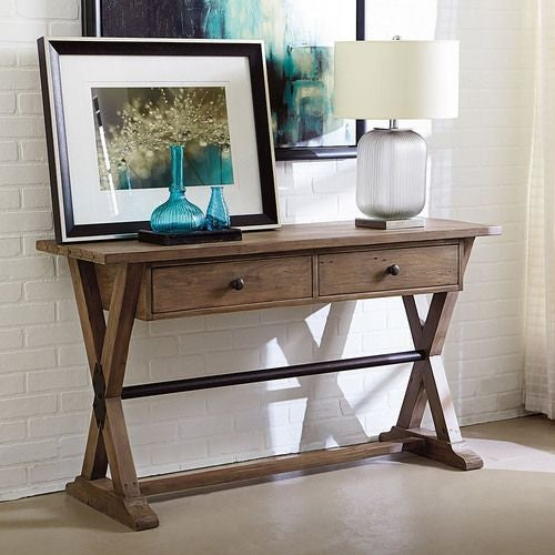 Reclamation Place Trestle Sofa Table
