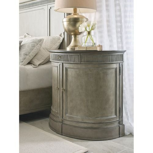 Savona Demilune Bachelor Chest Versaille Finish W/ Elm Top