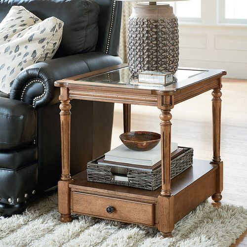 Candlewood Rectangular End Table W/ Drawer