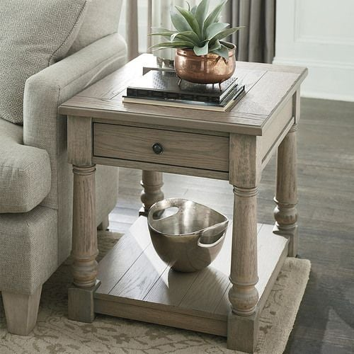 Outland Rectangular Drawer End Table