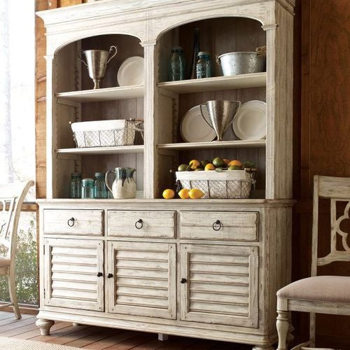 Weatherford Cornsilk Open Hutch/Buffet