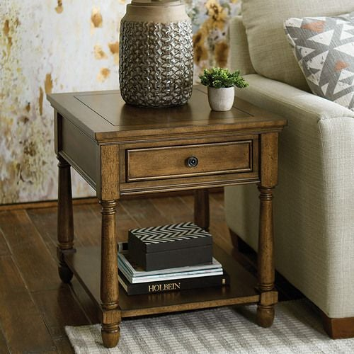 Saddlebrook Rectangular Drawer End Table