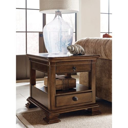 PORTOLONE PORTOLONE RECTANGULAR END TABLE W/DRAWER