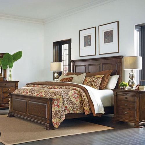 Portolone Monteri Queen Panel Bed - Complete