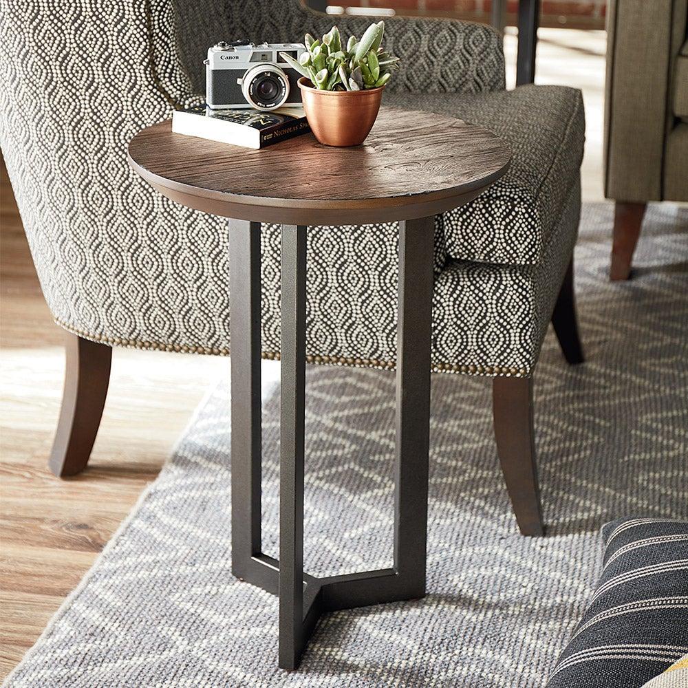 Graystone Round Chairside Table La Z Boy
