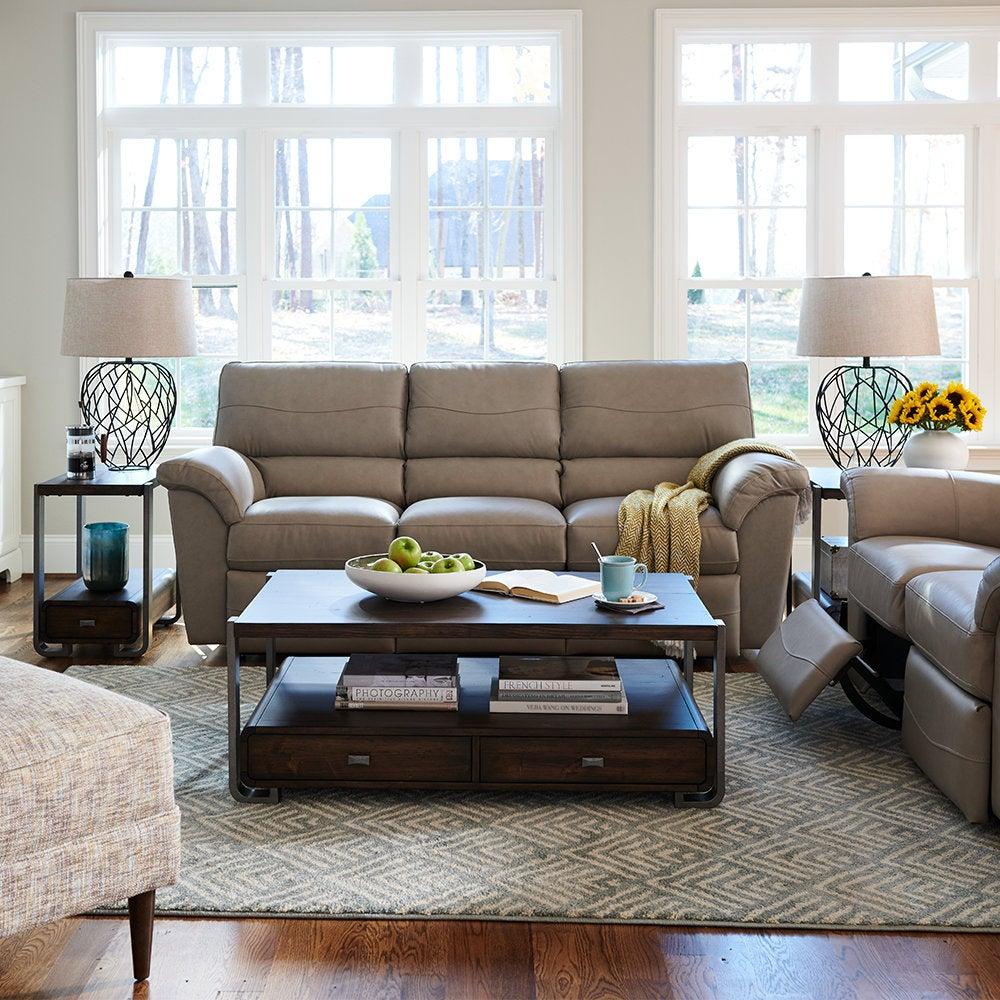 Sofá de dos plazas reclinable completo Reese -Z-Sofá reclinable ...