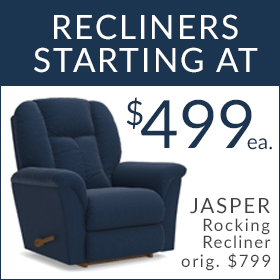 Recliners starting at $499
