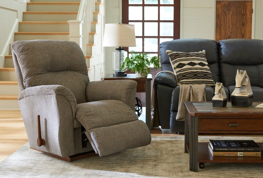 Room scene with Gabe Wall Recliner and accessories